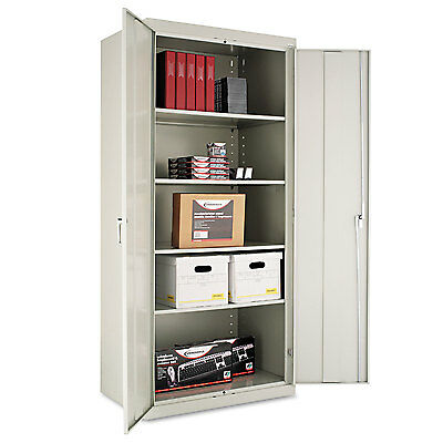 "Alera Assembled 78"" High Storage Cabinet, w/Adjustable Shelves, 36w x 24d, Light"