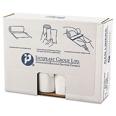 Inteplast Group High-Density Can Liner 43 x 46 60gal 16mic Clear 25/Roll 8 Rolls