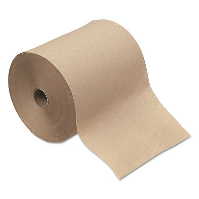 """GENERAL SUPPLY Hardwound Roll Towels 1-Ply Natural 8"""" x 600 ft 12 Rolls/Carton"""