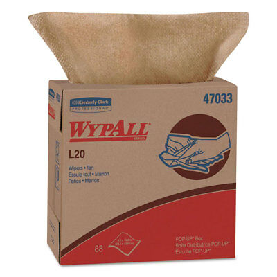 KIMBERLY CLARK L20 Wipers, 9 1/10 x 16 4/5, Brown, 88/POP-UP Box, 10 Boxes