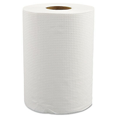 "MORCON Hardwound Roll Towels 8"" x 350ft White 12 Rolls/Carton W12350"