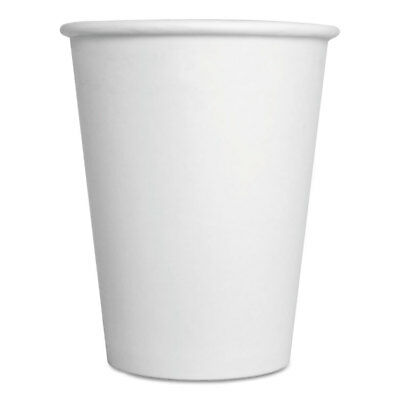 GEN Paper Hot Cups 12 oz White 1000/Carton 12HOTCUPWH