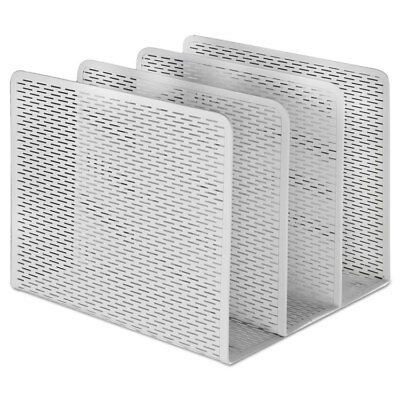 Artistic Urban Collection Punched Metal File Sorter Three Sections 8 x 8 x 7 1/4