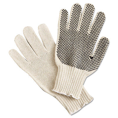 Memphis PVC Dot String-Knit Gloves Cotton/Polyester Large 9650LM
