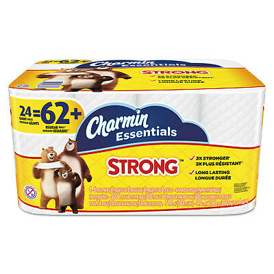 Charmin Essentials Strong Bathroom Tissue 1-Ply 4 x 3.92 300/Roll 24 Roll/Pack