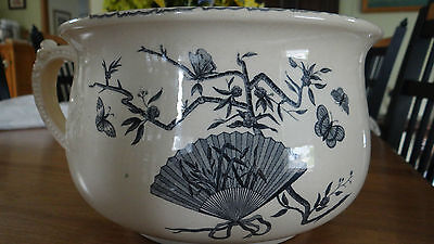 Antique A. Shaw Chamberpot Transfer Ware England Pottery Chinoiserrie 1868-1883