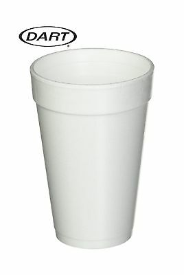 Dart 16 Oz. White Disposable Drink Foam Cups Hot and Cold Coffee Cup (Pack of...