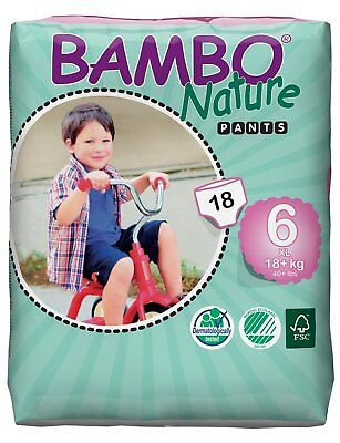 Bambo Pull Up Trainer Pants XL 18 Pull-up Nappies 18+ kg, 40+ lb