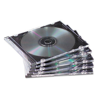 Fellowes Slim Jewel Case Clear/Black 50/Pack 98330