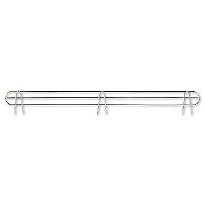 "Alera Wire Shelving Back Support, 48"" Wide, Silver, 2 Supports/Pack SW59BS48SR"