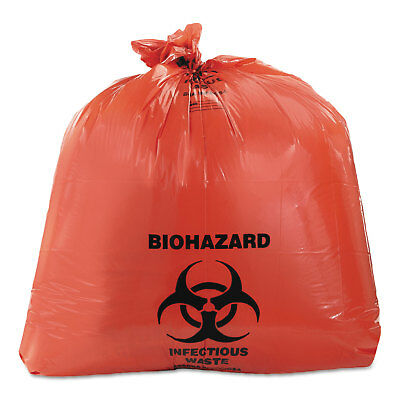 Heritage Healthcare Biohazard Printed Can Liners 40-45 gal 3mil 40 x 46 Red 75