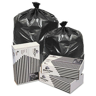 Pitt Plastics Black Star Low-Density Can Liners 33 gal 0.65 mil 33 x 39 Black
