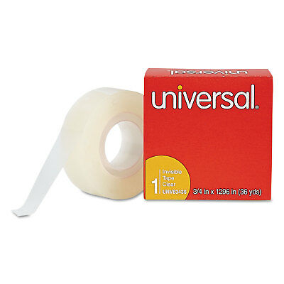"""UNIVERSAL Invisible Tape 3/4"""" x 1296"""" 1"""" Core Clear 83436"""