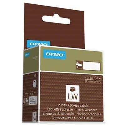 DYMO Holiday Labels Hipster Lumberjack Red 130 Labels/Roll 1960101