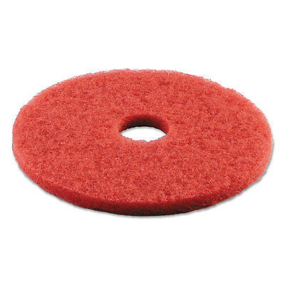 "Boardwalk Standard Buffing Floor Pads 16"" Diameter Red 5/Carton 4016RED"