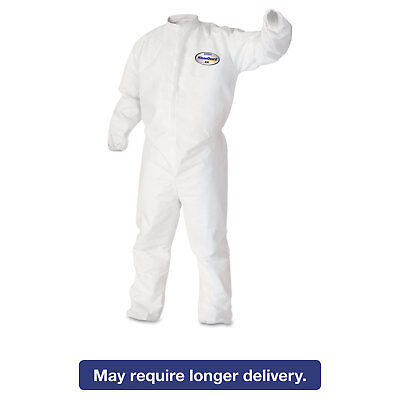 KleenGuard* A30 Elastic-Back & Cuff Coveralls White X-Large 25/Case 46104