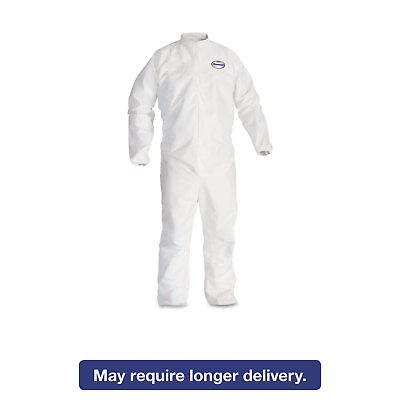 KleenGuard* A30 Elastic-Back & Cuff Coveralls White 2X-Large 25/Case 46105