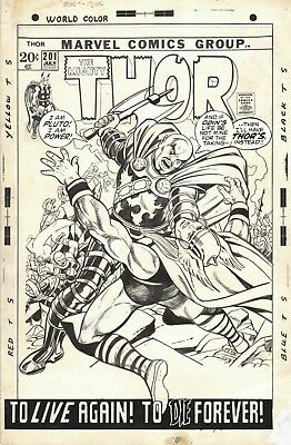 Gil Kane and Vince Colleta - The Mighty Thor #201- Original Cover Art 1972