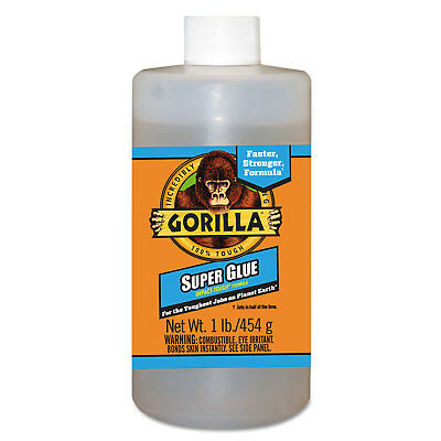 Gorilla Glue Instant Bond Superglue 1 lb Bottle Clear 78007