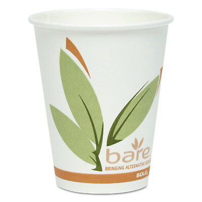 Dart Bare by Solo Eco-Forward Recycled Content PCF Paper Hot Cups 8 oz 400