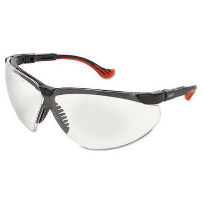 Uvex Genesis XC Two-Shot Safety Glasses Black Frame Clear Len S3300X