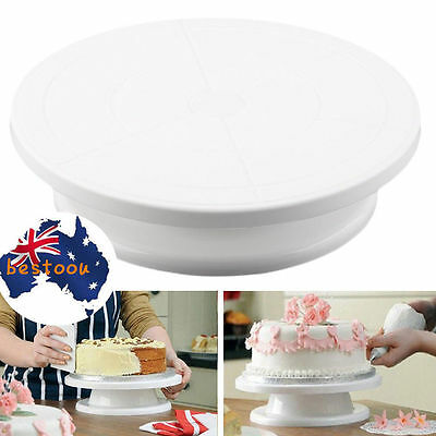 11'' 28cm Cake Making Turntable Rotating Decorating Platform Stand Display @S