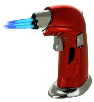 Jet Torch Gun Lighter Adjustable Flame Windproof Butane Refillable 9478D