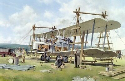 Vickers Vimy Alcock and Brown Trans-Atlantic Flight Aircraft Aviation Art Print