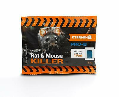 15 x 20g Rodent Poison Block Bait Killer - Strong Strength - Rat & Mouse Control