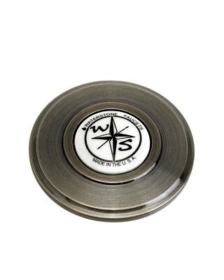 Waterstone 4070-ABZ Traditional Sink Hole Cover - Compass Button, Antique Bronze