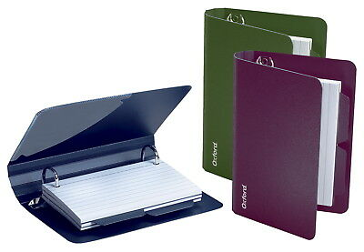Oxford Poly Index Card Binders, 3 x 5 Inches, Assorted Colors