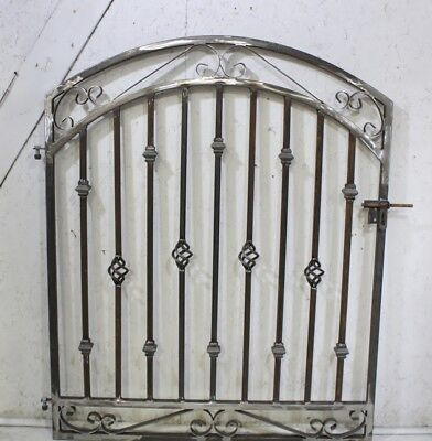 """Cast Finial Custom Entry Gate 30/"""" wide x 60/"""" tall Wrought Iron Gate"""