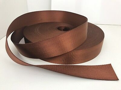 Webbing Brown - 50mm wide - Heavy Duty and Thick