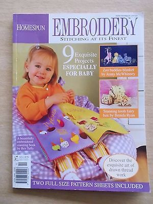 Australian Homespun~Embroidery #2~Baby Special~Book~Tooth Fairy Box~Zoo Buddies