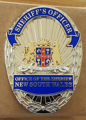 NSW Sheriff  metal badge (not police) (USA style)