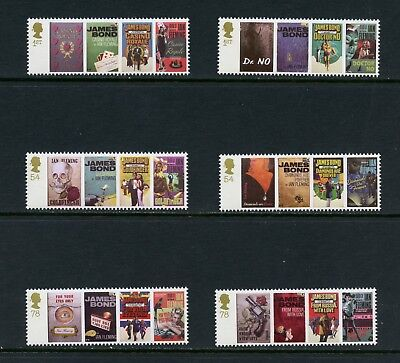 Great Britain 2008  #2531-6  James Bond book covers/art    6v.  MNH  M174