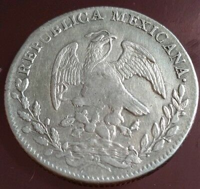 Mexico 1824 8 Reales Mo JM Silver Mexican Coin $999 IF YOU BUY BOTH OF 1824