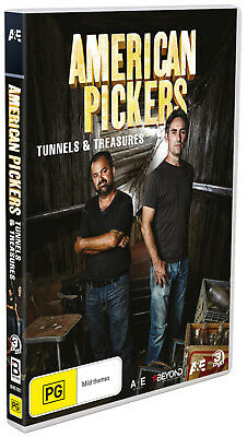 BRAND NEW American Pickers - Tunnels & Treasures (DVD, 2018, 3-Disc Set) R4