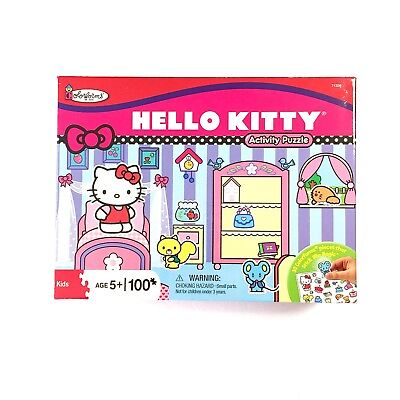 HELLO KITTY by Sanrio Activity Puzzle 100 pcs Age 5+ Colorforms New Box Sealed