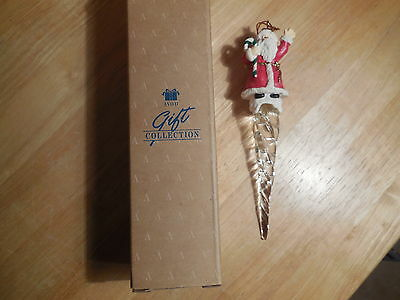 Avon 1995 Icicle Fun Ornament Santa with Candy Cane-  New in Box