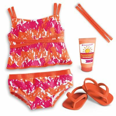"* AMERICAN GIRL 18"" OUTFIT Bright & Splashy Tankini Bathers for Doll NEW IN BOX"