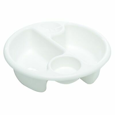 The Neat Nursery Co. Circular Top N Tail Baby / Child Wash Bowl - White