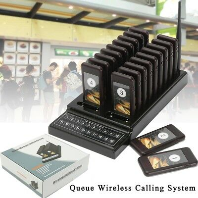 20 Restaurant Coaster Pager Guest Call Wireless Paging Queuing Waiter System USA