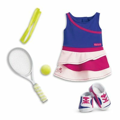 "* AMERICAN GIRL 18"" OUTFIT Tennis Ace Dress Ball Racket for Doll - NEW IN BOX"