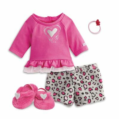 "* AMERICAN GIRL 18"" OUTFIT Lovely Leopard Pyjamas PJs for Doll - NEW IN BOX NIB"