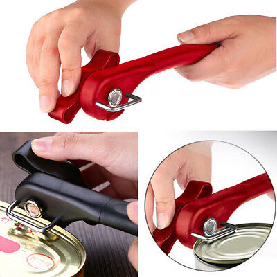 Pro Manual Can Tin Jar Bottle Opener Smooth Edge Side Cut Stainless Steel Safety