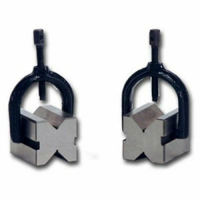 "1.1/2"" CAPACITY PRECISION STEEL V-BLOCK PAIR W. CLAMPS 1-1/4x1-1/4x1-5/8 - VEE"