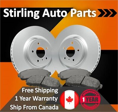 """2007 2008 2009 For Dodge Nitro Coated Front Brake Rotors and Pads w/11.89"""" Dia"""