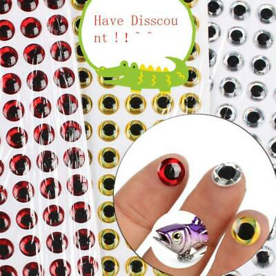 100pcs Fish Eye 7-12mm 3D Holographic Lure Fish Eyes Fly Tying Jigs Crafts Dolls