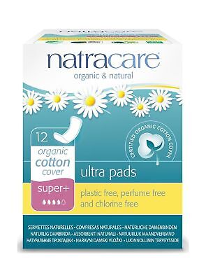 Natracare Natural Ultra Pads Organic Cotton Cover, Super Plus, 12 Count